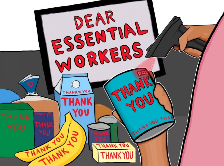These essential workers help the rest of the community stay sane and healthy during this unprecedented time. They not only need to be recognized and appreciated, but there should be steps made beyond recognition for essential workers to keep them safe.