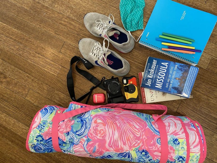 One of my quarantine essentials is my tennis shoes because even with track being canceled, I've been going on a lot of runs. I also need my AirPods to listen to music while running. I also have been reading a lot of really good books. I've read