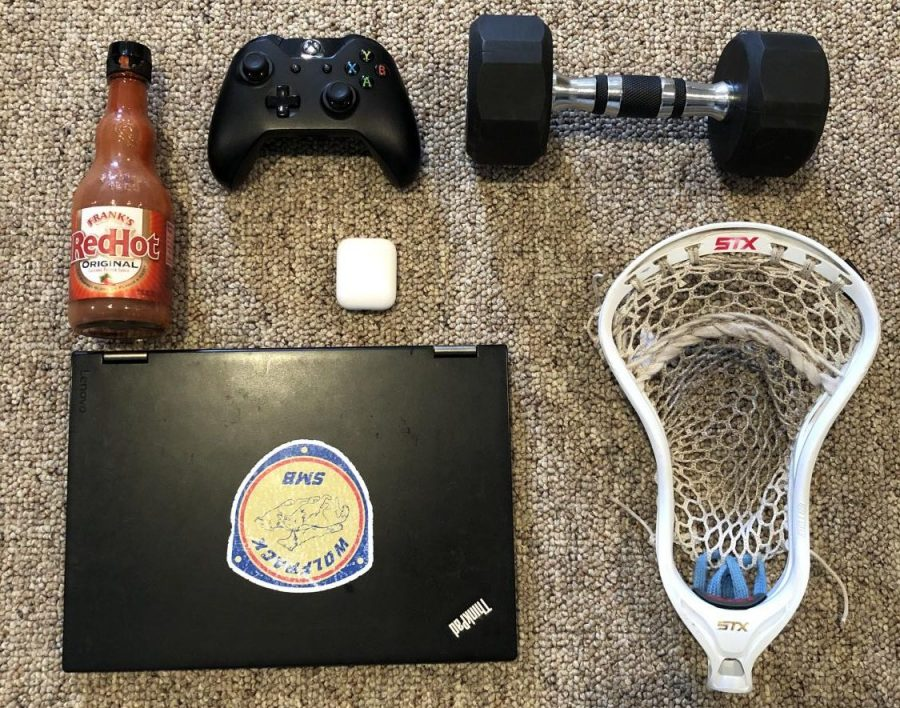 These are the items I have found myself using most over quarantine. My computer has allowed me to not only do school work, but watch lots of Netflix and Hulu. I have used my AirPods to listen to music and podcasts whenever I get bored and my Xbox has helped pass the time as well. I have been lifting weights in my basement and playing lacrosse with my brother as other activities that keep my mind off of quarantine. Last but not least, I have gotten really into Franks Hot Sauce and I end up putting it on a lot of meals I eat.