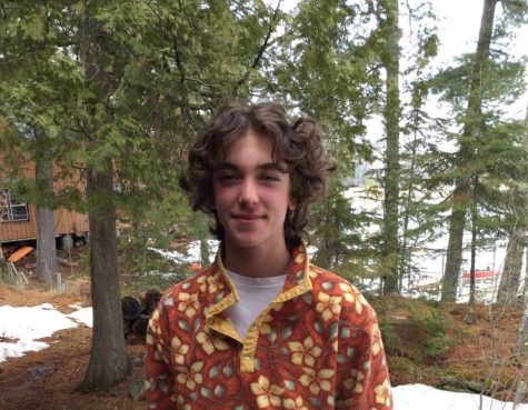 Junior Eli Conrod-Wovcha enjoys his screen-free trip at his cabin during this time of quarantine.