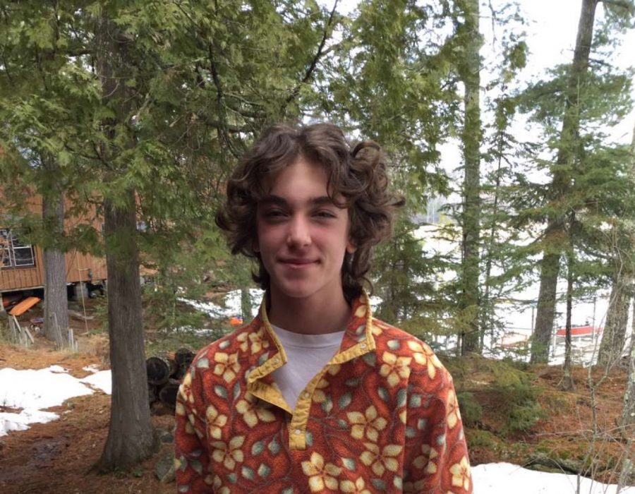 Junior Eli Conrod-Wovcha enjoys his screen-free trip at his cabin during this time of quarantine.