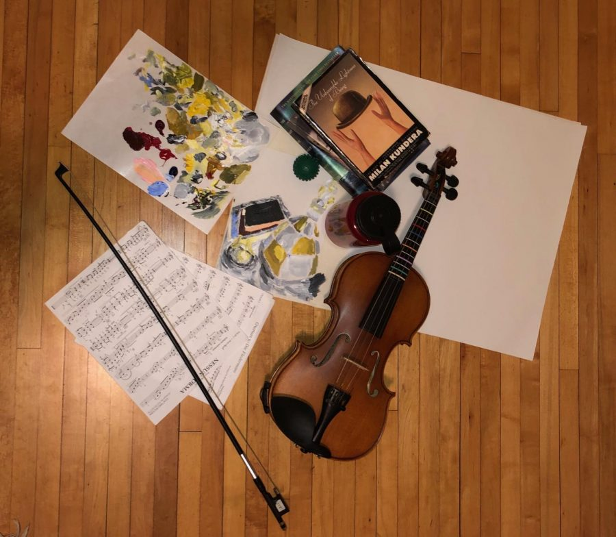 I have used some of my spare time in quarantine to get back to things that I usually don't have time for during the school year, like reading, art projects, and practicing the violin. I have also tried to stay healthy by running and drinking a lot of water.