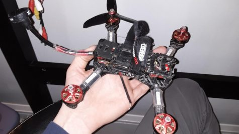 """I love building cool and different things,"" Hayden Graff said. ""I love using my hands to build instead of sitting around doing nothing."" During social distancing, Graff has stayed busy by working on this quadcopter."