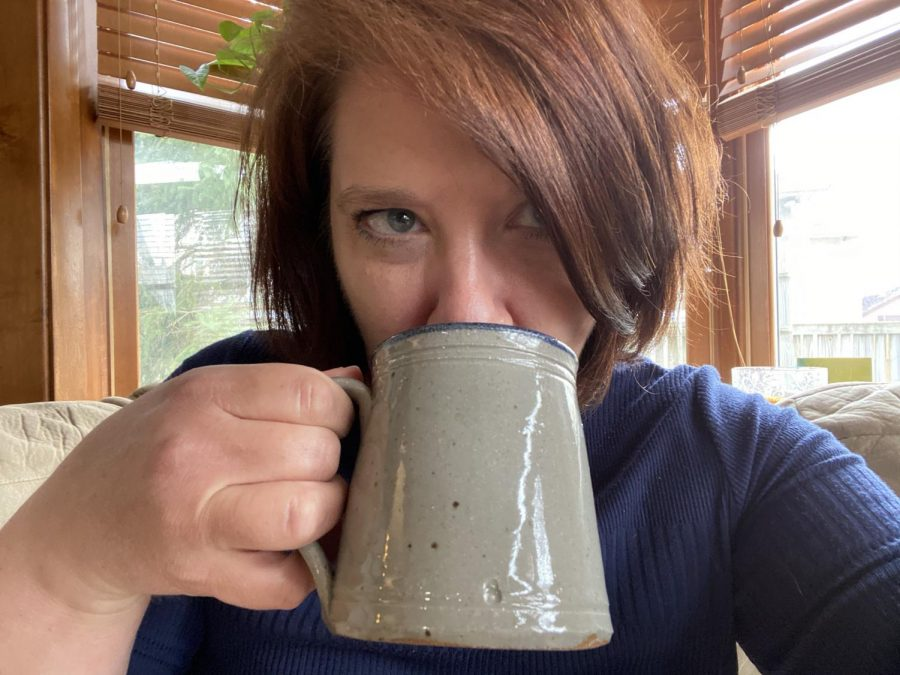 Ms. Campbell starts her day with coffee and editing. Every day.