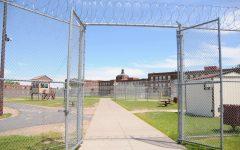 Moose Lake Correctional Facility yard in Northern Minnesota.