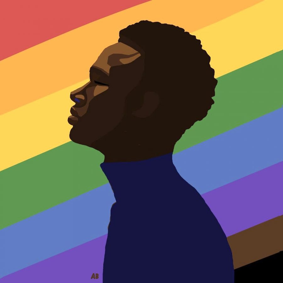 A work of digital art created by Annika Brelsford in honor of this year's Pride Month.