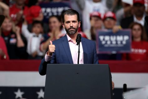Donald Jr. speaks to northern Minnesotans about the GOP's advocacy for American laborers.