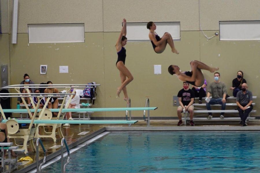 Junior KK Welsh shares her diving experience and new conference record. (Submitted by KK Welsh)