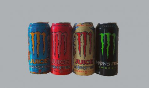Gaylord tries 5 kinds of monster punch, labeling Mango Loco as the superior flavor.