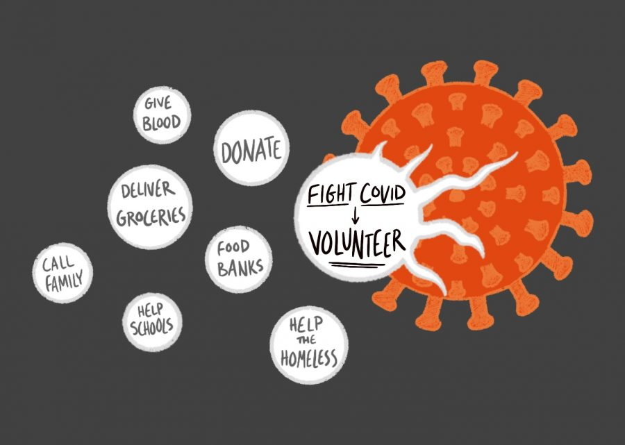 Volunteering offers support for the high number of people impacted by the COVID-19 pandemic, while also providing a way to make change for students.