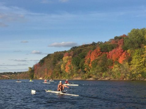 Junior Griffin Ziemer rows down the Missippi river with some friends.