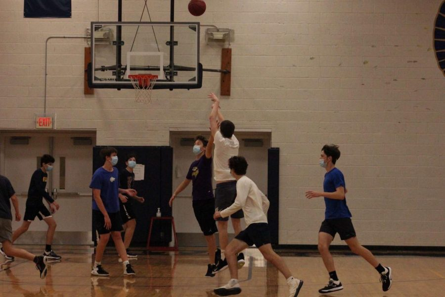 The boys basketball team started captains practices this past week following COVID guidelines to ensure the season is played.