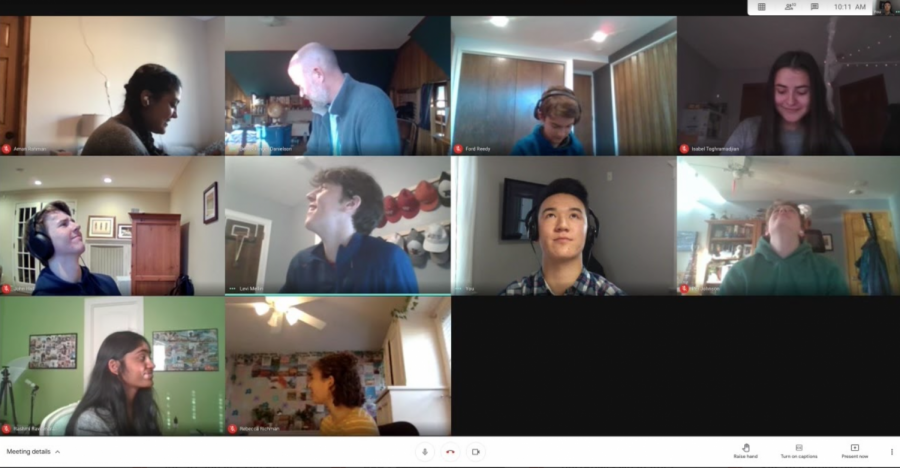 Start Up club members take a minute to Brady Bunch their virtual club meeting. Clubs are an opportunity to connect across interests and have fun with peers, even in distance learning.