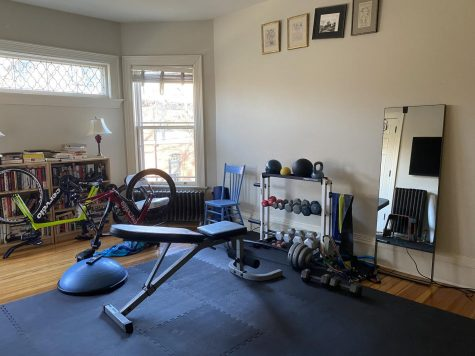 Some students are setting up at-home workout rooms in their house, as gyms are closed and youth sports are paused.