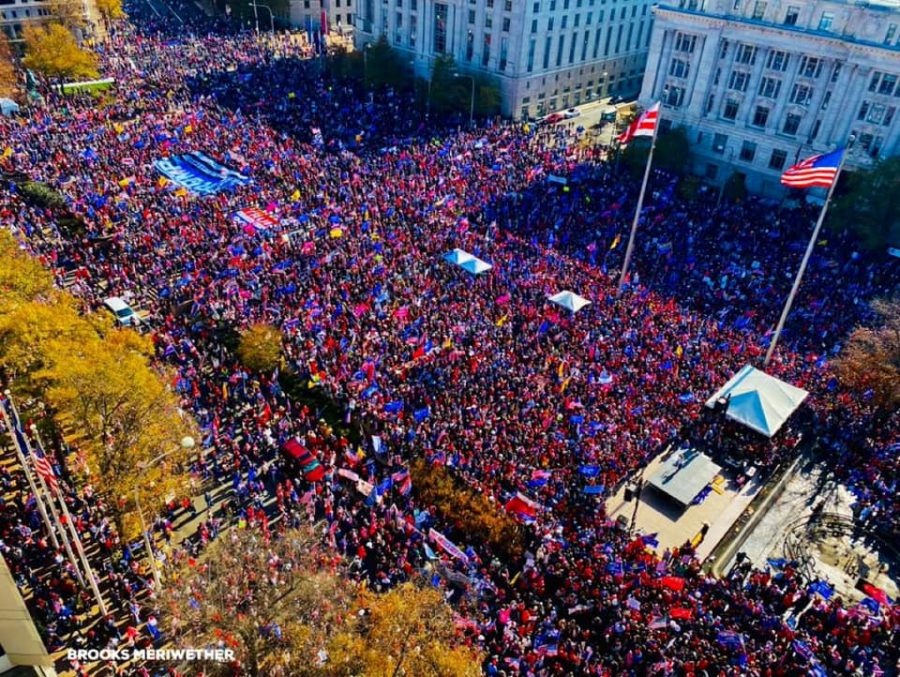 Thousands+of+Trump+supporters+gather+in+Washington+D.C%2C+protesting+the+results+of+the+election+and+disregarding+social+distancing+protocols.+