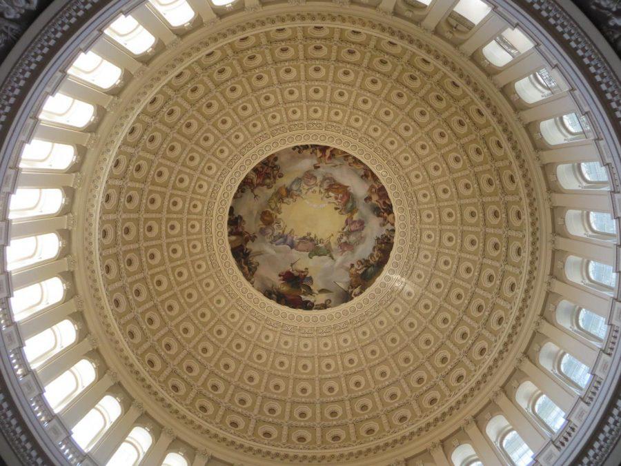 The Apotheosis of Washington in the dome of the U.S. Capitols rotunda.