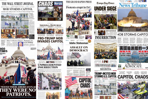 Front pages of newspapers from around the country show universal coverage of the US Capitol mob. To see the full collection, visit Today