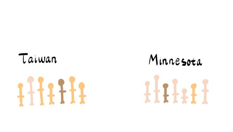 Another huge change in He's life after moving back to the Twin Cities was the racial demographics.