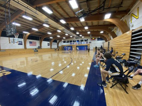 Although the gym may seem small to many, the court is as big as outer space to the players when they have to run back and forth over and over again.