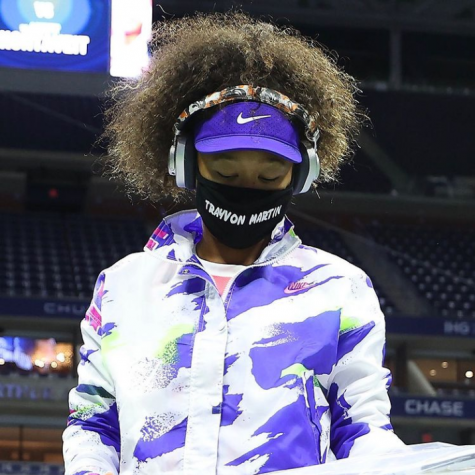 After each match at the U.S. Open, Osaka posted a photo of her walking onto the court with the mask and the name that she wore. On every post except this one, she didn