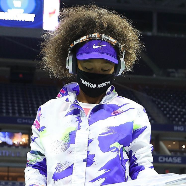 After each match at the U.S. Open, Osaka posted a photo of her walking onto the court with the mask and the name that she wore. On every post except this one, she didn't leave a caption. Osaka said,