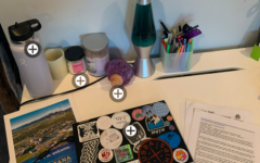 Senior Saffy Rindelaub shares her pandemic workplace at home.