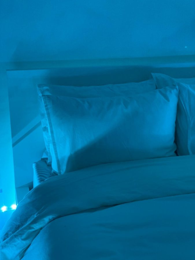 After completing homework and relaxing after a stressful day of school, sleeping is the best way to rejuvenate. Turning the lights to a relaxing blue and slipping into cool fresh sheets is the best feeling ever.