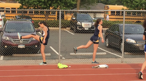 Senior Mia Schubert (left) has been the captain for the track team for 2 years now.
