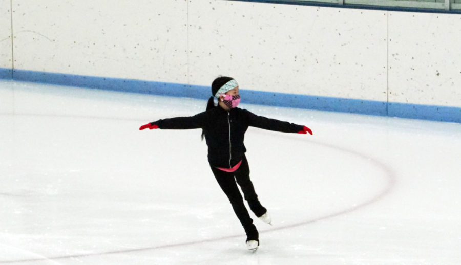 Chen skates for a couple hours without instruction alongside the other skaters.