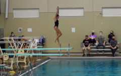 Junior Katherine Welsh finished her second year coaching the boys diving team, assisting the leading coach.
