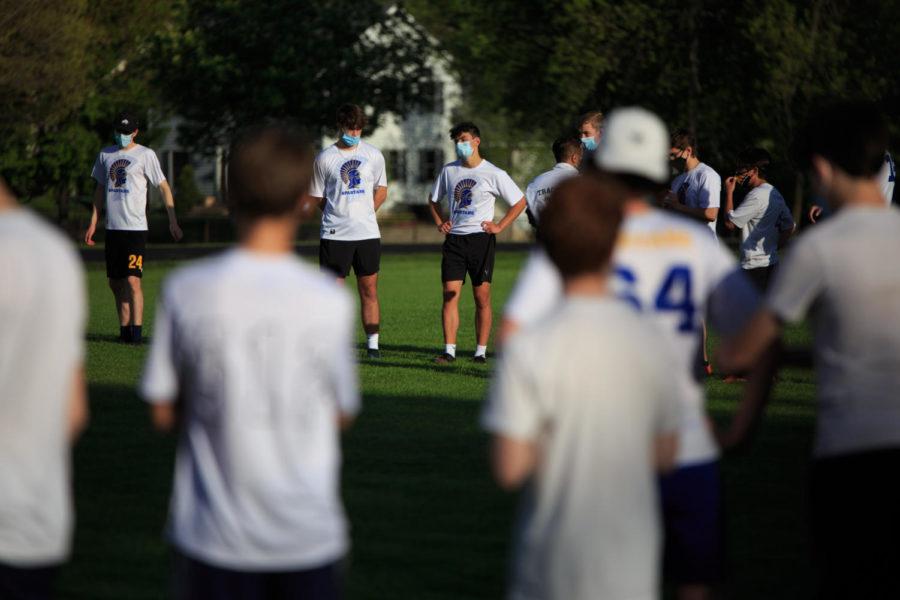 [ST. PAUL, MN] — May 13, 2021: SPA Boys Ultimate play Edina JV on Lang Field at SPA.