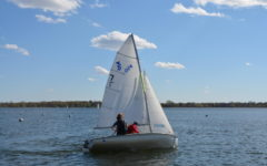 Hayden Graff and Wyatt Tait on the lake.