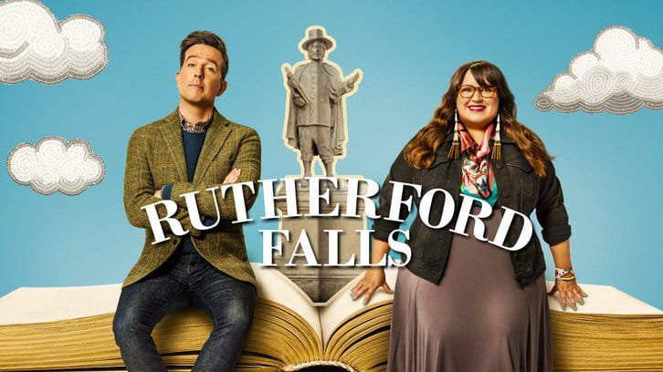 """Rutherford Falls"" features Ed Helms and Jana Schmieding as best friends Nathan Rutherford and Reagan Wells."