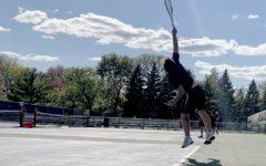 Senior Luka Shaker-Check jumping for the ball.