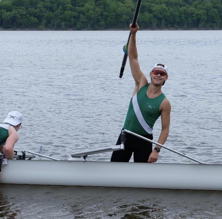Ziemer at a recent rowing race.