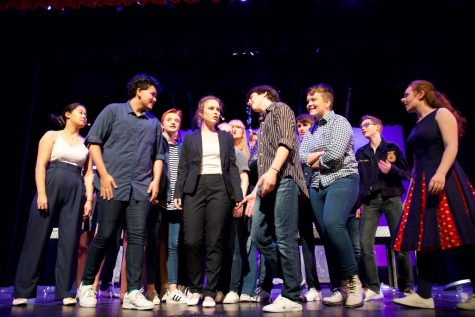 Every(Man) (2018) I love tech week... staying after school with my friends and having shared dinners, getting into costumes and makeup, working as a team on problems and feeling that sense of our own little community being on the verge of something greater than ourselves. -Annika Brelsford, 12