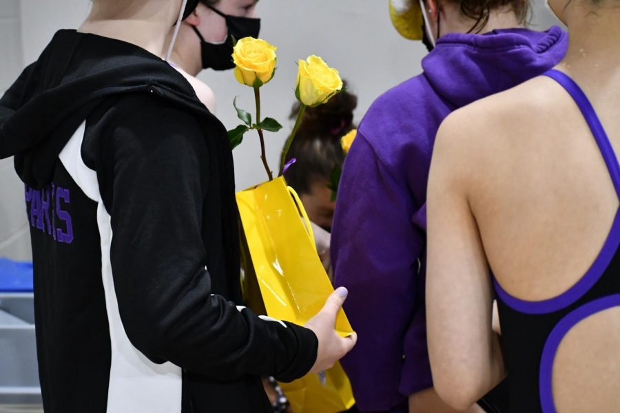 In honor of the seniors last meet, SPARKS coach prepared small gifts and flowers for each of the seniors.